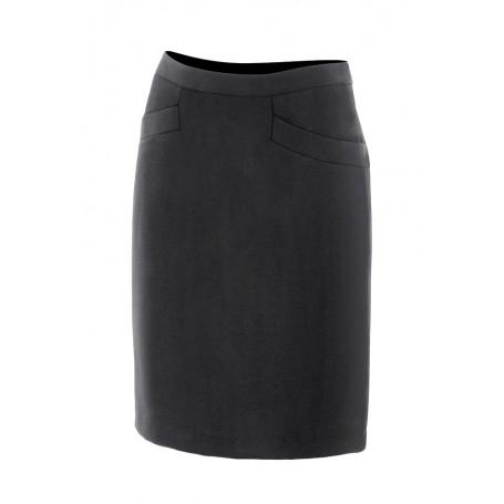 Falda para camareras-catering negra con forro Velilla 391