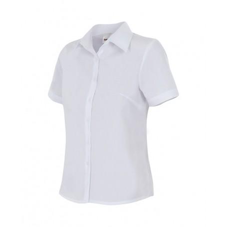 Blusa Camisa en mangas cortas mujer hostelería-oficina Velilla 538