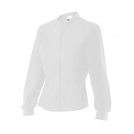 Camisa entallada mangas largas de hostelería mujer Velilla VIURA