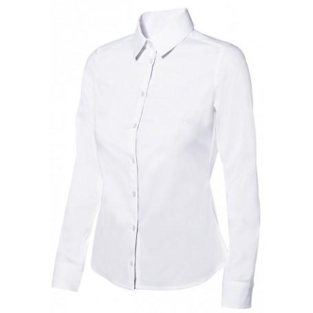 Camisa slim fit elástica de hostelería-oficina mujer Velilla 405002