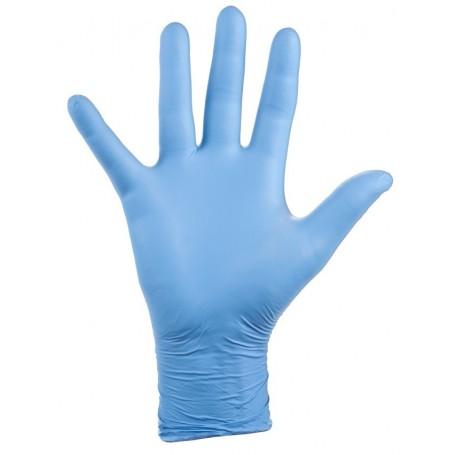 Guantes desechables nitrilo sin polvo sanidad-limpieza Velilla NITPF