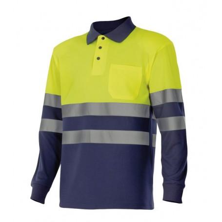 Polo m-l bicolor de trabajo alta visibilidad Velilla 305507
