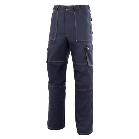 Pantalón multibolsillos tejano con costuras Velilla ZINC