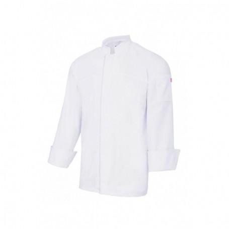 Chaqueta de cocina 100% algodón con cierre central Velilla 405208A